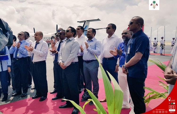 President Yameen inaugurates 'Dhaalu Airport'